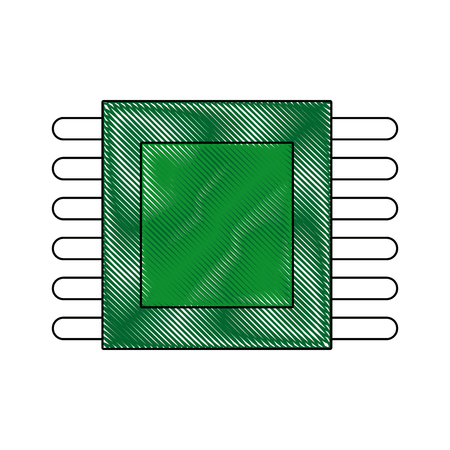 circuit board processor and chip engineering and tech motherboard vector illustration