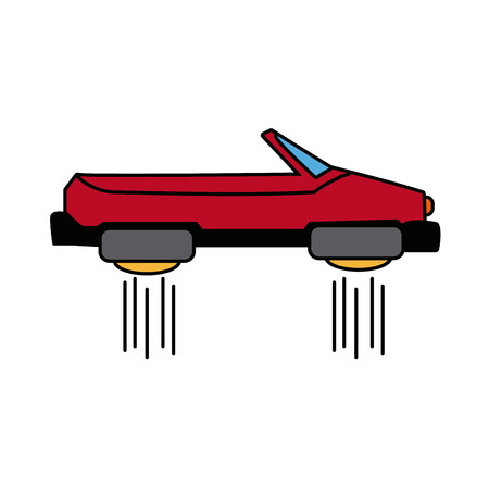 aerodynamic: hover car future technology future transport vector illustration