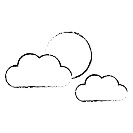 cloud sun weather climate day sky vector illustration