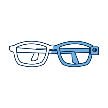 vr glasses futurist technology simulation vector illustration