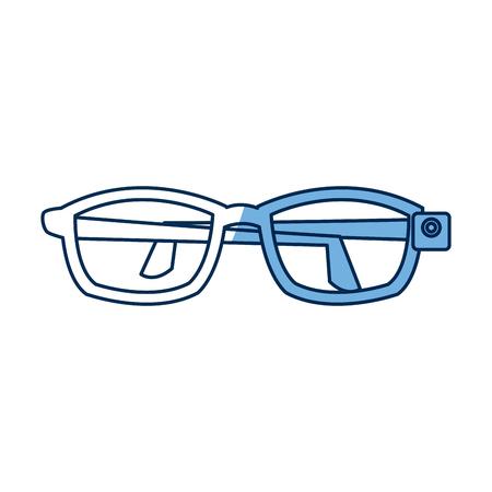 futurist: vr glasses futurist technology simulation vector illustration