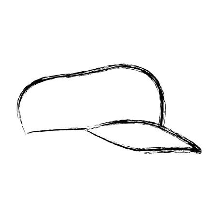 hat with visor: sport cap accessory fashion trendy icon vector illustration