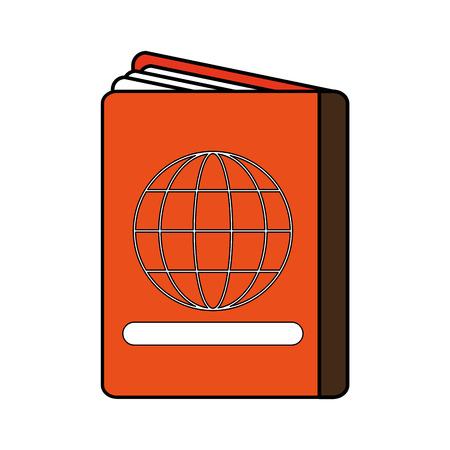 emigration: Colorful passport over white background vector illustration