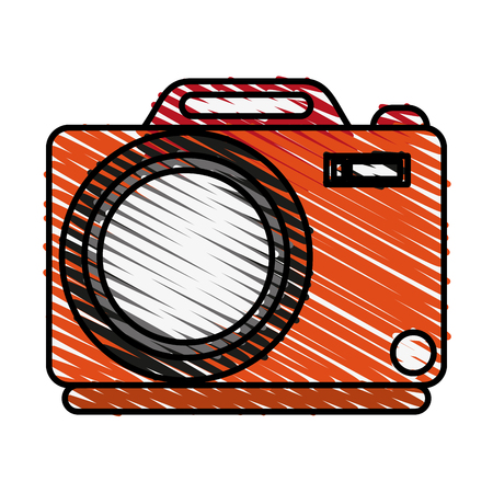 photographing: Colorful camera doodle over white background vector illustration Illustration