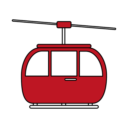 Flat line cable way illustration.