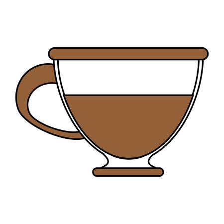 Flat line coffee cup illustration.