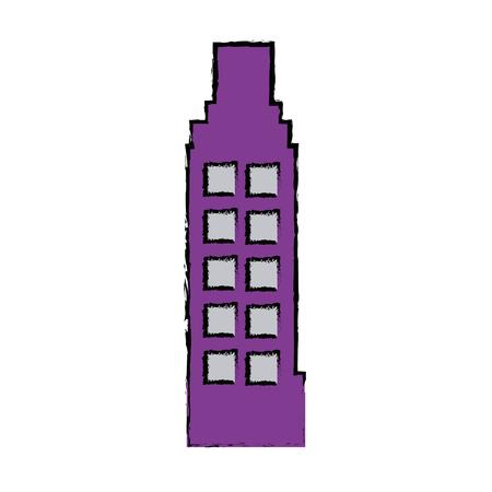 Business-Gebäude Büro für Immobilien Vektor-Illustration Standard-Bild - 81663356
