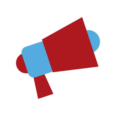 loud: Loud speaker advertising marketing digital vector illustration Illustration