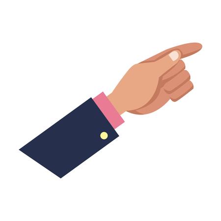 indication: Businessman hand pointing up gesture vector illustration Illustration