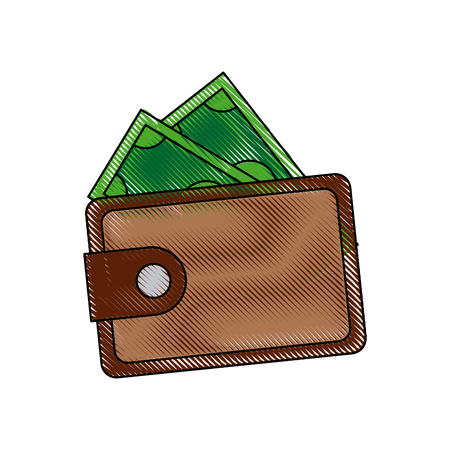 Wallet to keep money safe concept vector illustration