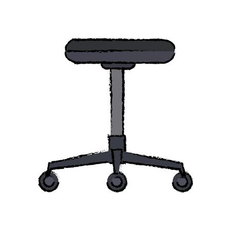 Silla backless muebles de oficina rueda ilustración vectorial Foto de archivo - 81662709