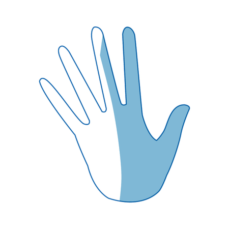 opened palm of the hand cartoon icon vector illustration