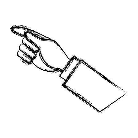 businessman hand pointing up gesture vector illustration