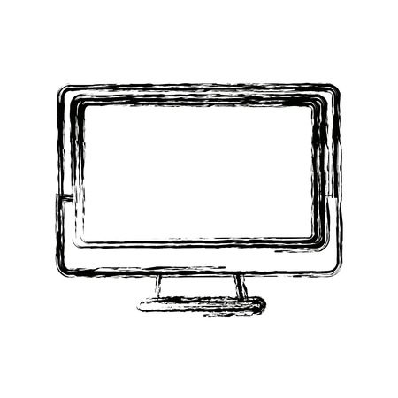 led display: monitor screen computer device technology vector illustration