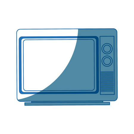 hdtv: tv screen broadcast classic appliance vector illustration