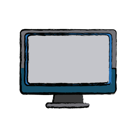 led: monitor screen computer device technology vector illustration