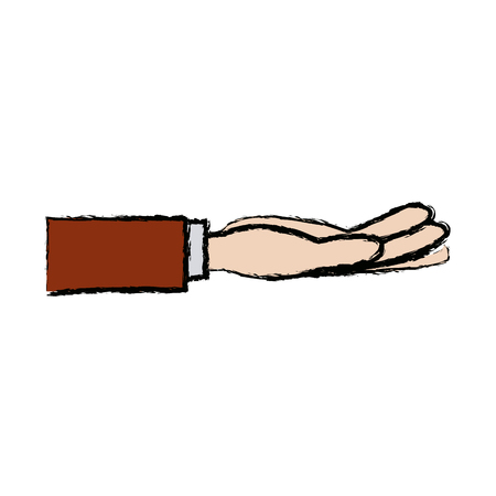 business hand people receiving gesture vector illustration Illustration