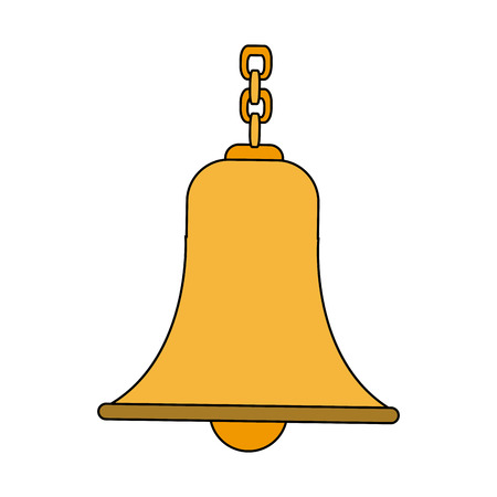 Campana con cadena antigua ilustración vectorial tradicional
