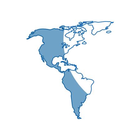 geographical: Silhouette map world location landmark vector illustration Illustration