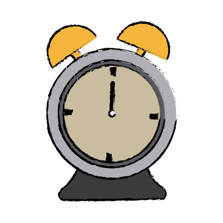 alarm clock time alert hour icon vector illustration Illustration
