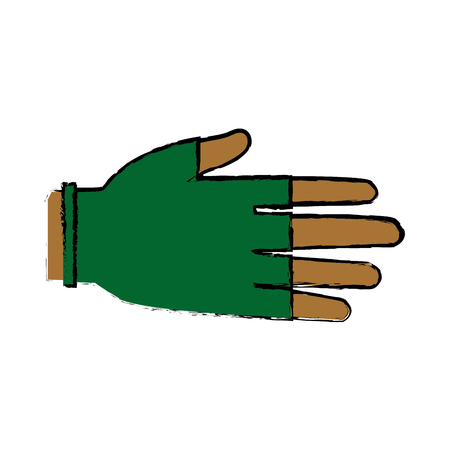surgical glove: hand human protection glove medical vector illustration
