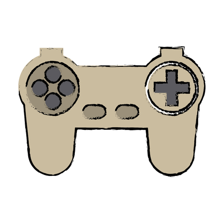 observation: game controller or joystick console keypad icon vector illustration Illustration