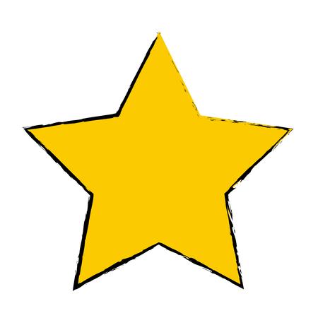 yellow star award winner favorite icon vector illustration