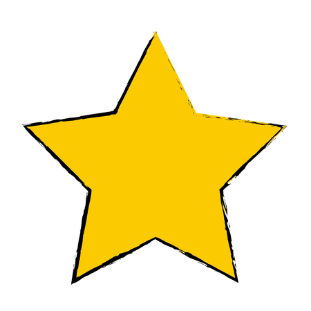 yellow star award winner favorite icon vector illustration