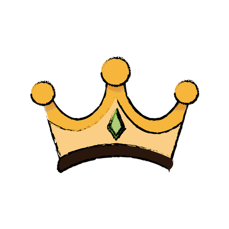 gold crown of wise king manger accessory vector illustration