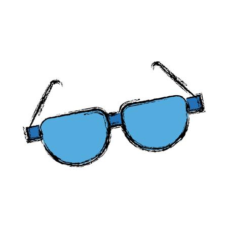 Cartoon sunglasses accessory fashion optical vector illustration Illustration