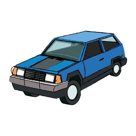 comfortable: suv car sport utility vehicle cartoon vector illustration