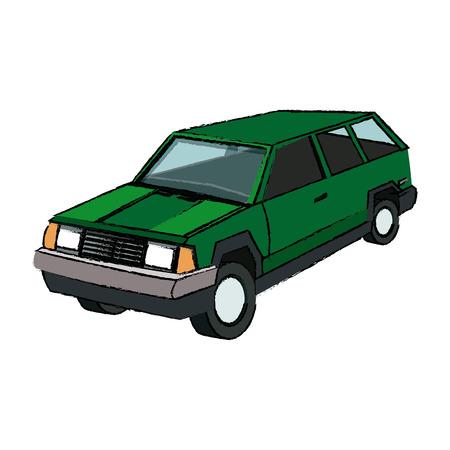 suv car sport utility vehicle cartoon vector illustration