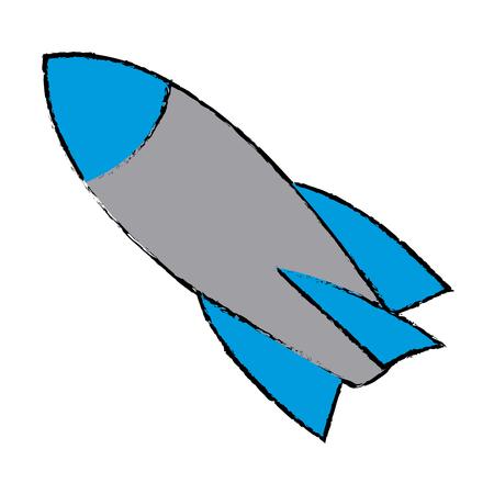 rocket start up launch innovation vector illustration