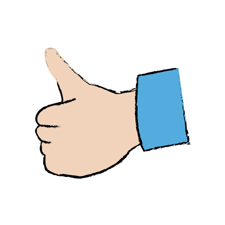 alright: hand showing thumbs up gesture ok vector illustration