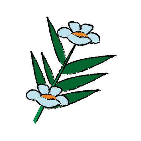 fresh bamboo leaves flowers botanical zen forest tropical spa decoration vector illustration