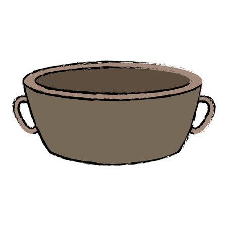 bowl spa for water treatment empty vector illustration Illustration