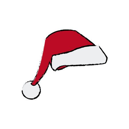 Kerstmuts kleding accessoire decoratie vectorillustratie