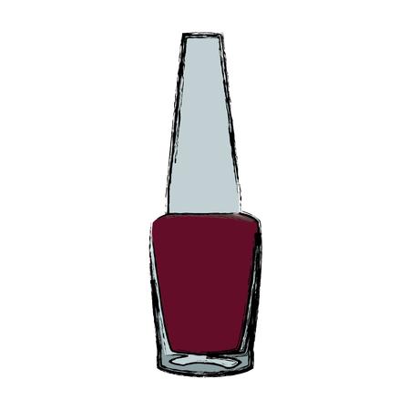 nail polish bottle cosmetic image vector illustration Illustration