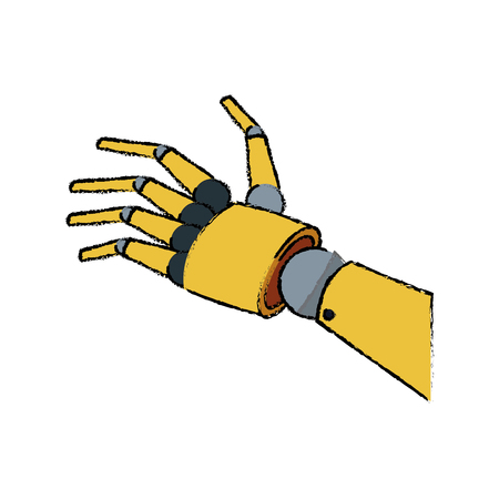 mechanical robotic hand innovation technology vector illustration