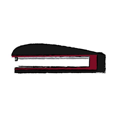 stapler and metal staple office vector illustration Illustration