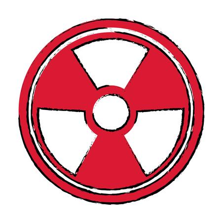 radiation caution hazard nuclear symbol vector illustration