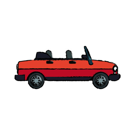 sport car vehicle transport motor speed vector illustration