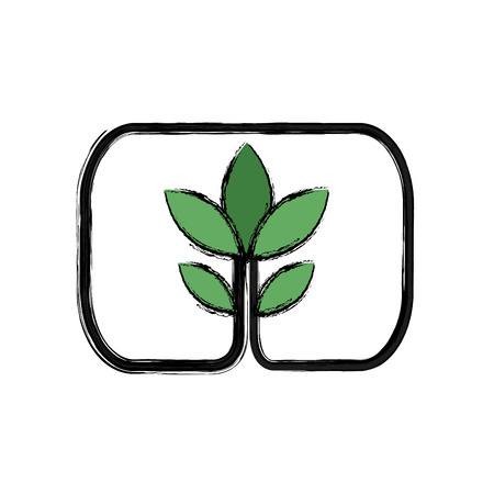 green plant growth ecology environment vector illustration Illustration