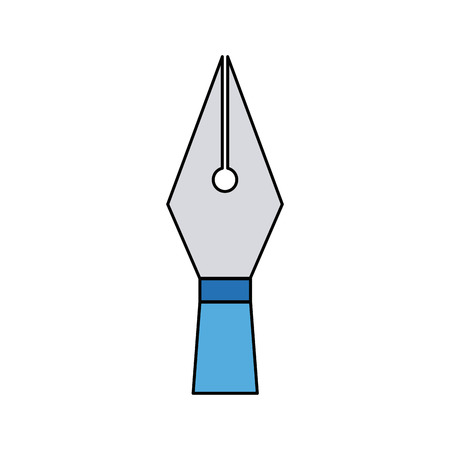 writing pen head ink classic icon vector illustration