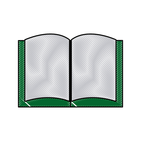 open book library school utensil vector illustration