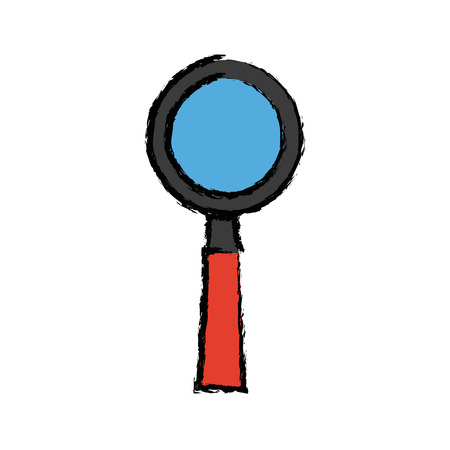 magnifier search find discovery school tool vector illustration
