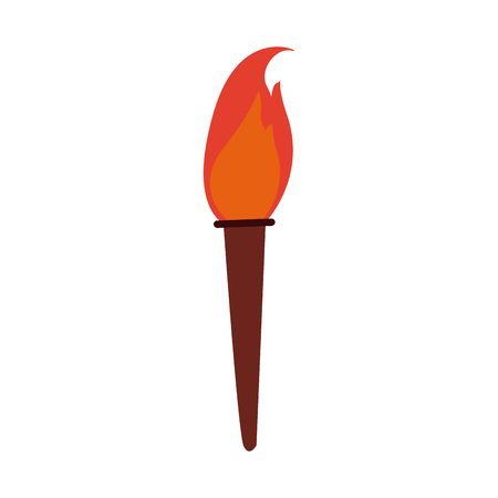 flaming: torch fire hot flame power flaming and heat vector illustration