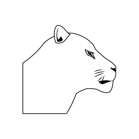female head lion african animal courageous vector illustration
