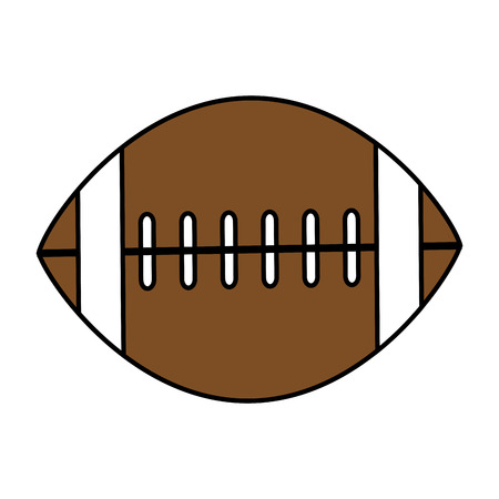 Flat line american football with hint of color over white background Imagens - 81851493