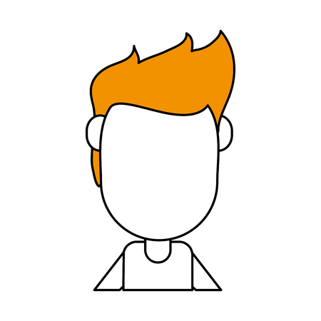 hint: Flat line with man avatar a hint of color over white background